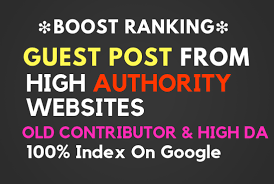 Provide 5 Guest Post HQ sites with high DA PA