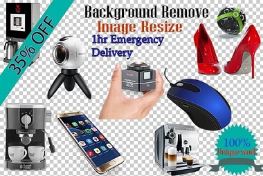 I will 20 image resize, crop, remove background, transparent and white in 1 hour