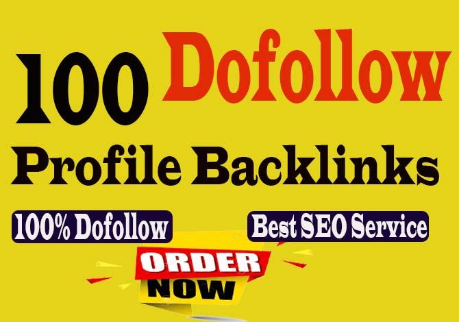 create Powerfull 100+ pr9 & DA 90 High-Quality Dofollow Profile backlinks