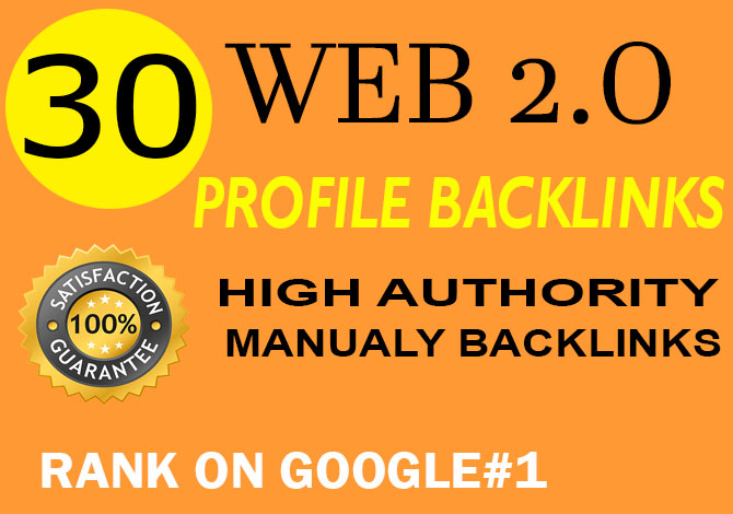 create manual 30+ web2 0 profile backlinks for your website