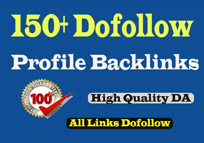 create manually 150 dofollow profile backlinks For your website