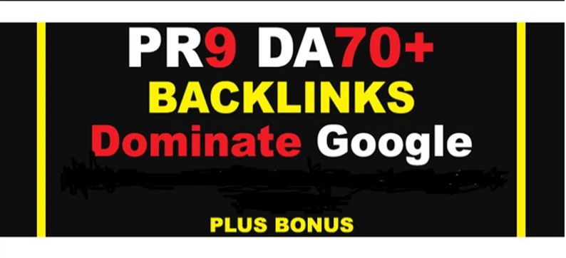 I will Build PR9 DA 70+ High Quality SEO Dofollow Backlinks ina 24 hours.