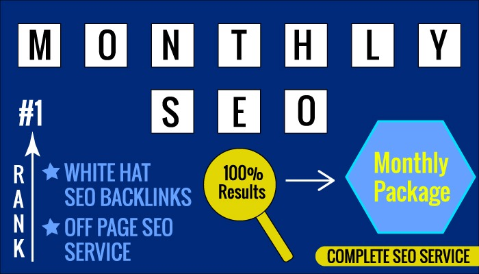 I will elevate your ranking,  monthly SEO services for your website google top ranking