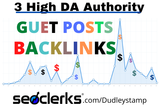 I Will Publish Your Guest Post Article On 3 High Authority Websites
