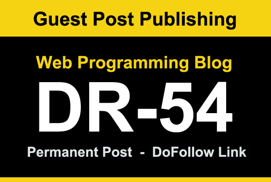 I will Guest Post on high DR 54 web programming blog
