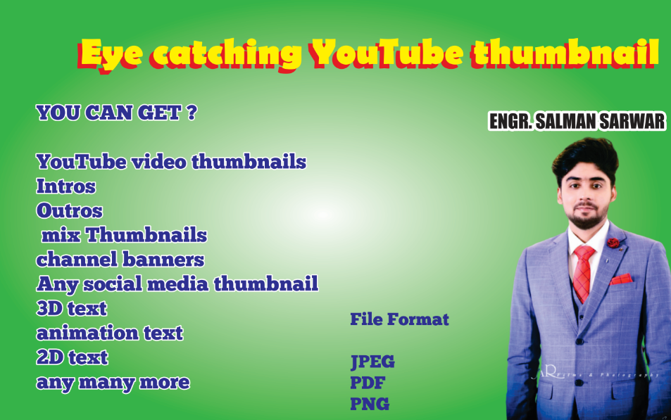 I will create eye catching YouTube, social media thumbnails
