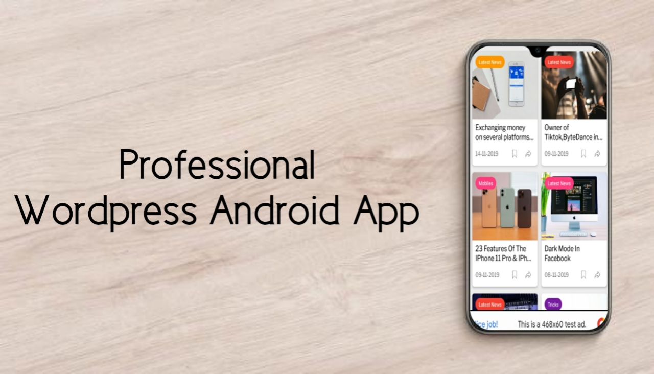 Create automated news or blog website on Wordpress with android app.