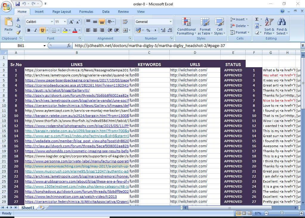 manually create 50 highpr blog comment backlinks