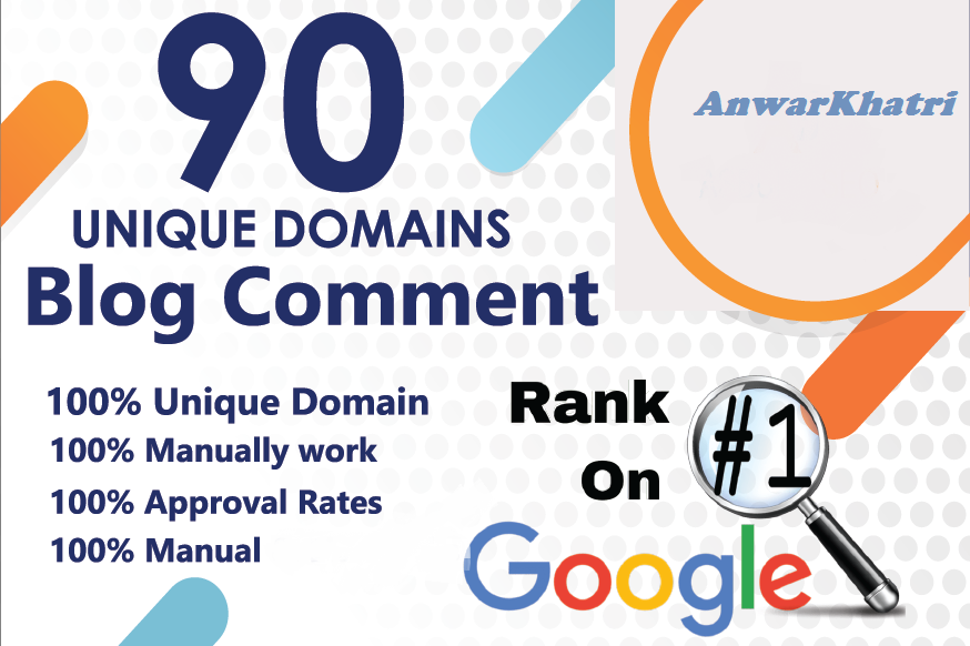 i will do 90 unique domain blog comments
