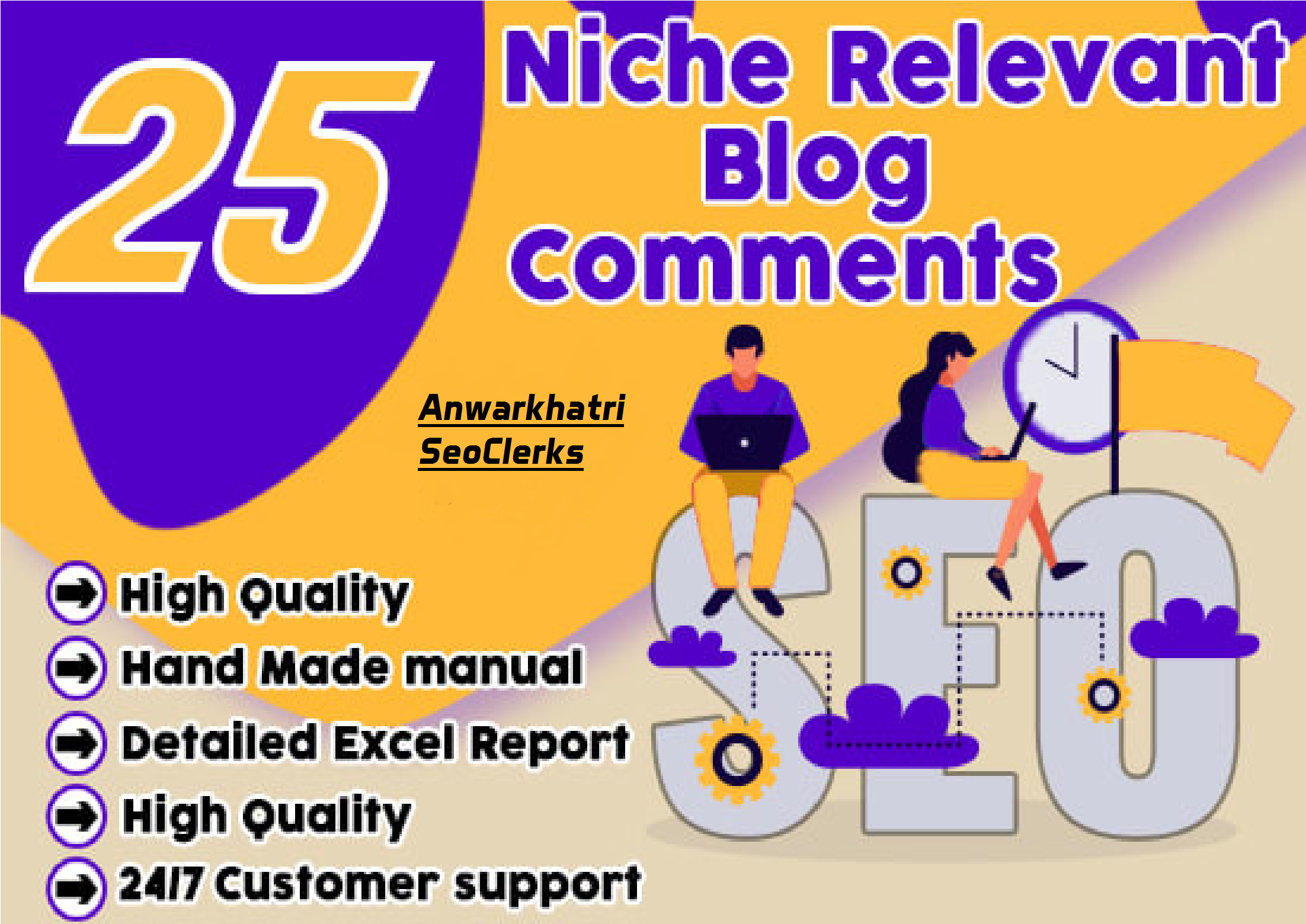 Provide 25 High Quality Niche Relevant Blog Comments