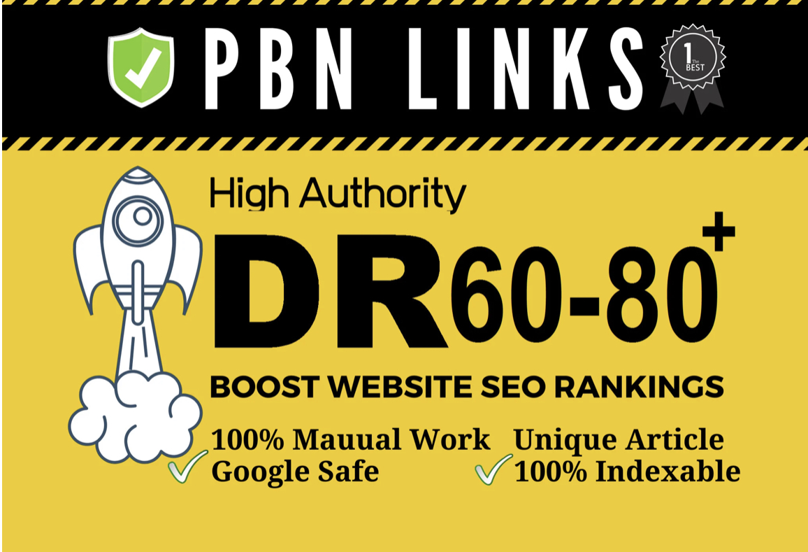 I will provide 5 do-follow DR 60 to 80 high quality backlinks