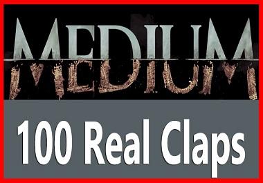 100 Real and Organic USA User Medium Claps