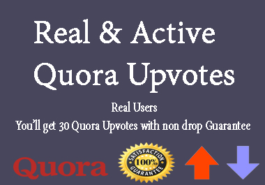 Buy 30 Quora Upvotes Real and Active User
