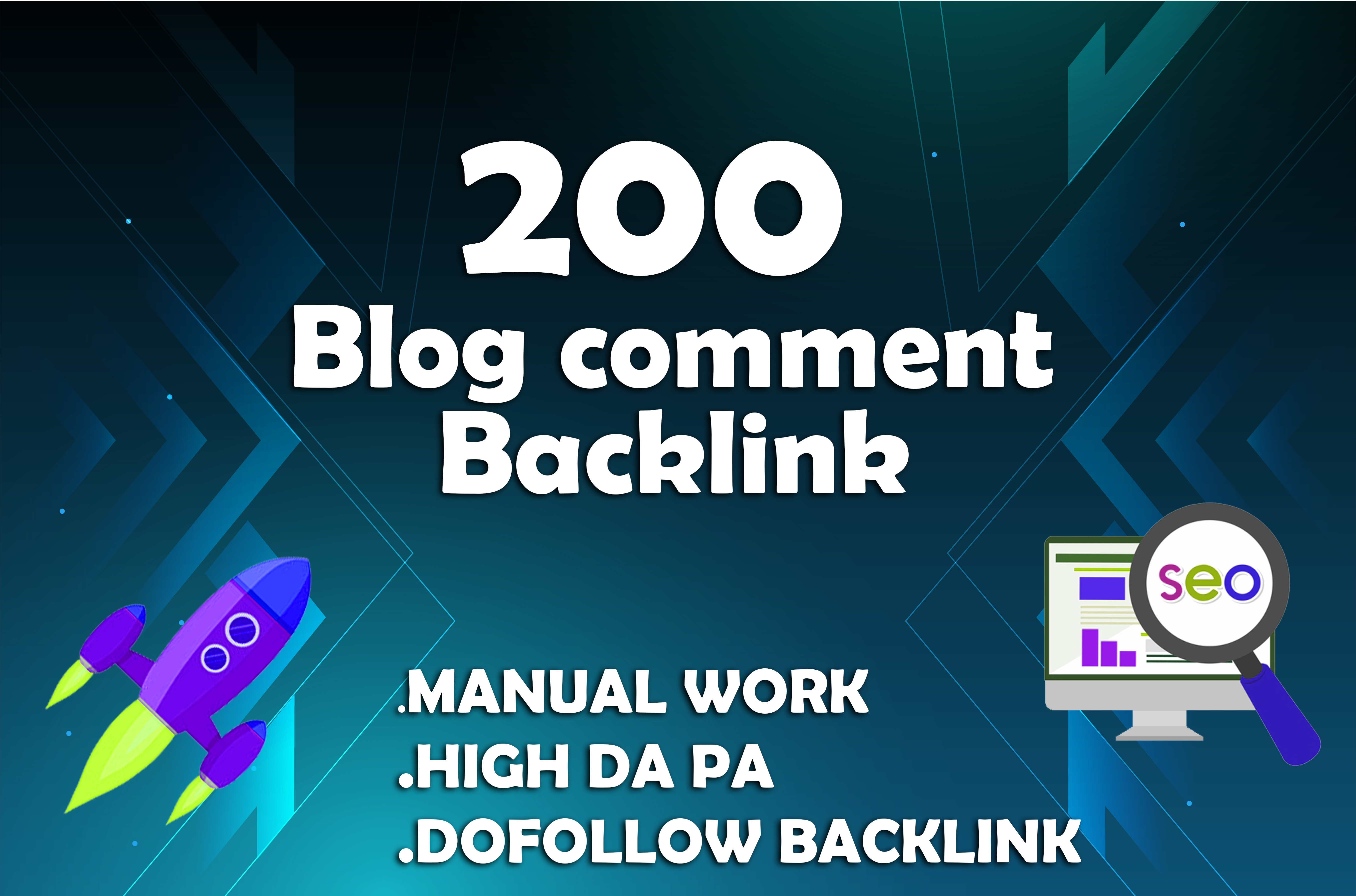 I create 200 manual blog comment backlink with high da pa