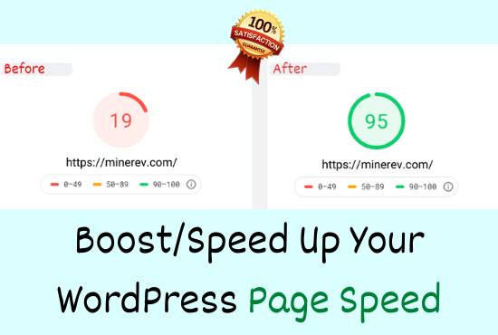 I will boost/speed up your WordPress website or pages