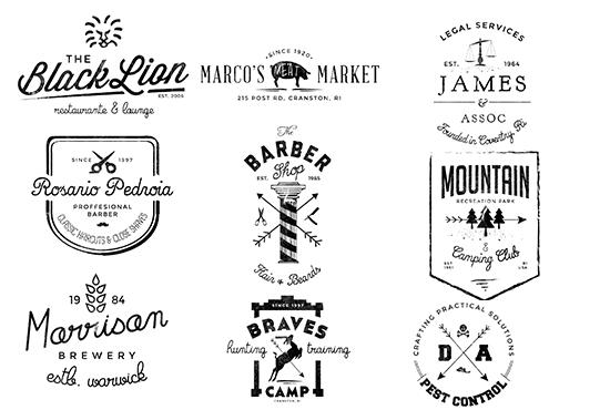 I will design gorgeous retro or vintage logo