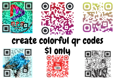 I will create eye catching colorful QR codes/BAR codes