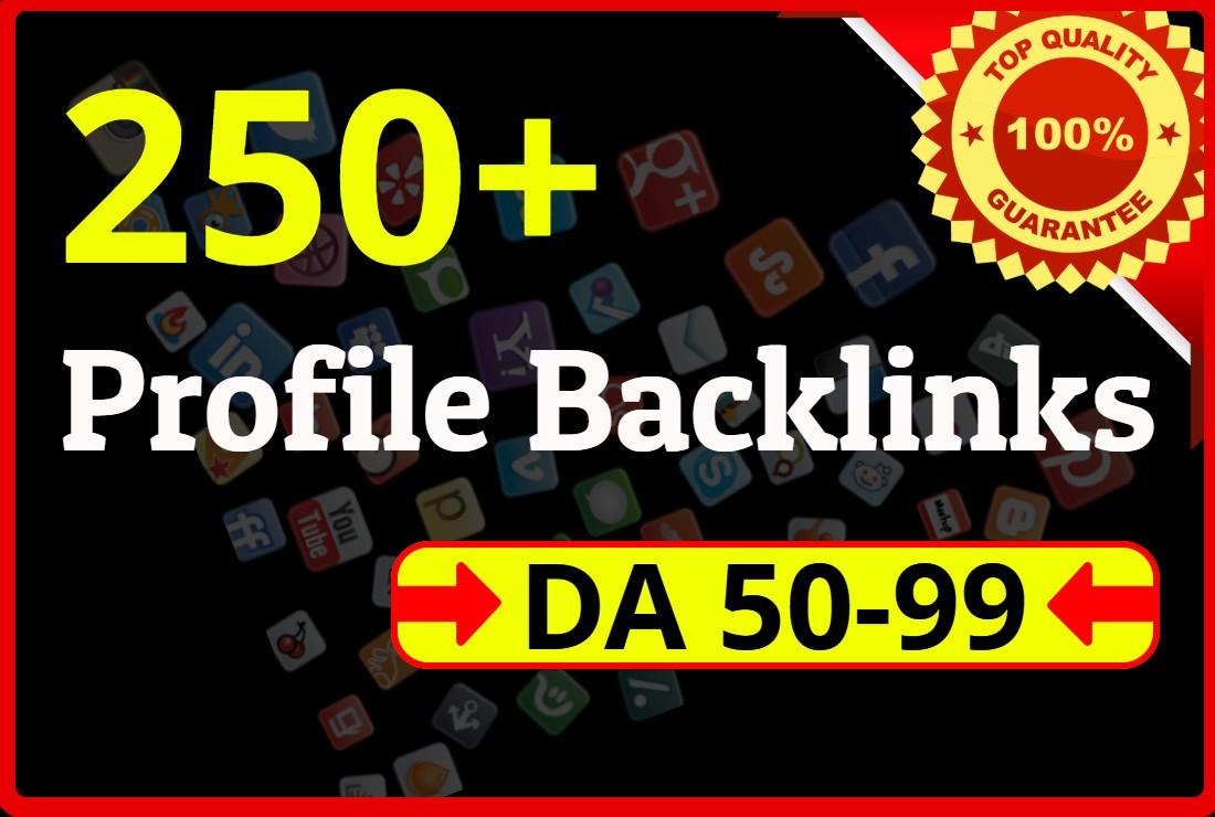 I will do 100+ HQ profile backlinks manually for website seo