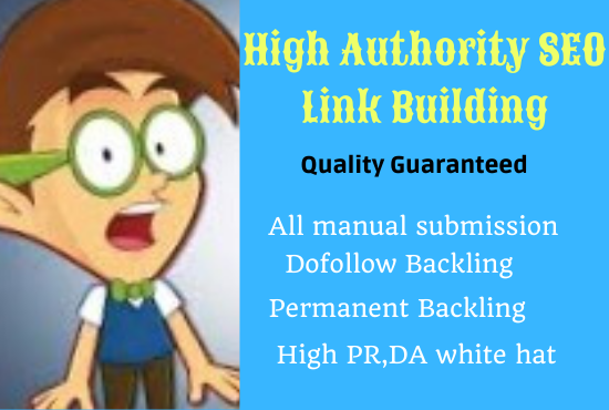 I will do organic High quality PR, DA SEO link building