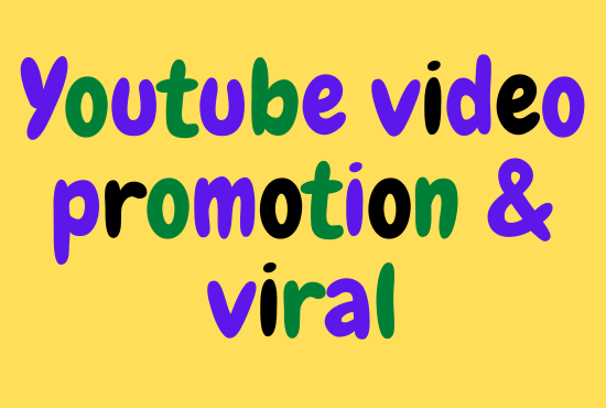 Non-drop youtube video viral & promote at worldwide parson