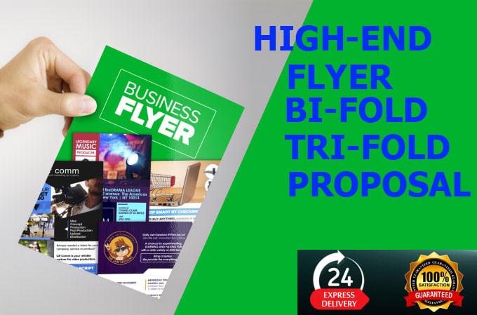 I will do professional flyer,  postcard,  bifold,  trifold,  brochure design