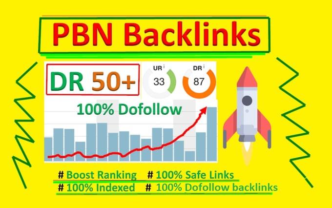 build 10 PBN DR 50+ homepage Dofollow backlinks