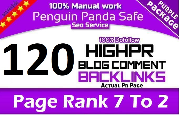 I will do 120 Unique domain Dofollow blog comments High DA PA backlinks