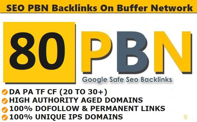 Build 80 PBN Unique Dofollow homepage high DA PA permanent backlinks