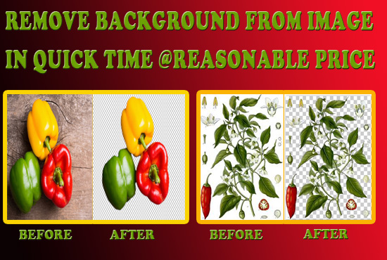 remove background from Image or Logo in quick time at reasonable price