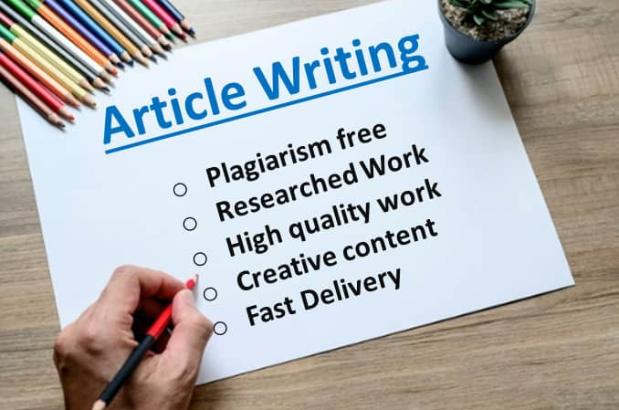 I will best writing 6x1500 words premium article writing or content writing for any topic for $85