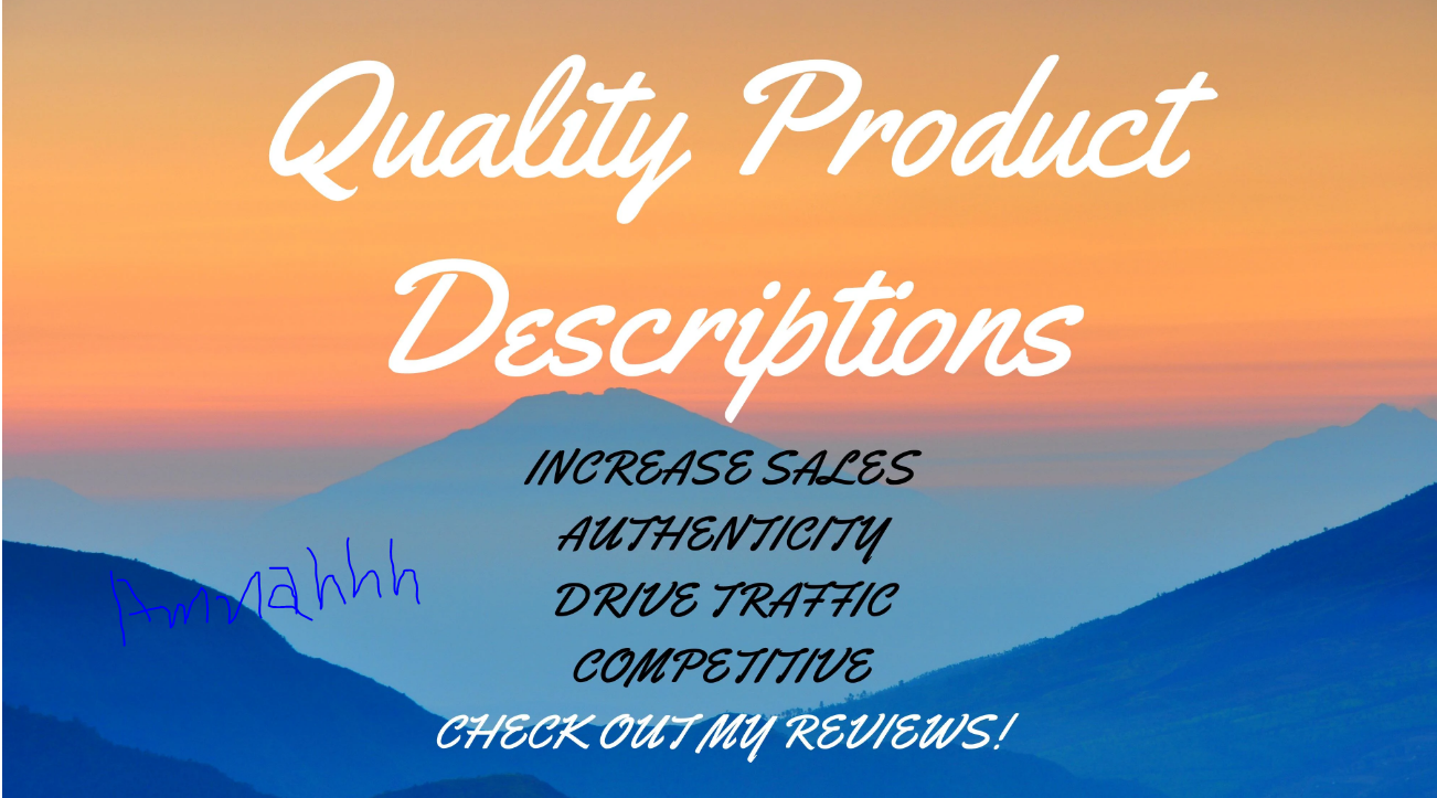 I will create quality SEO product descriptions