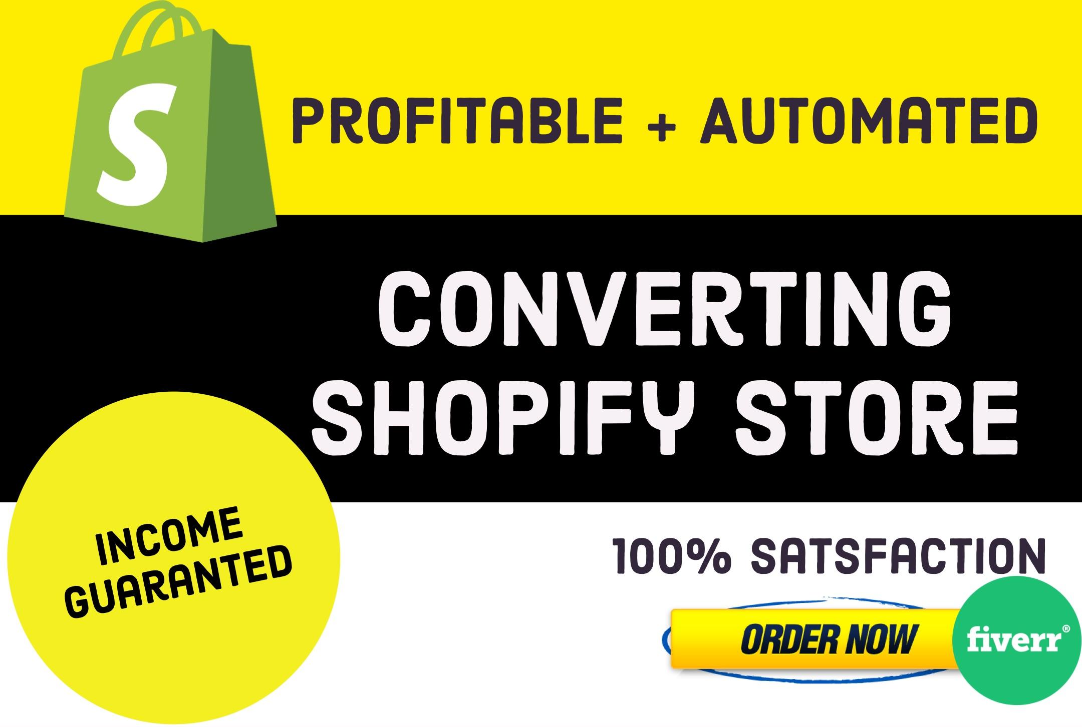 High Converting Full Shopify Store Development