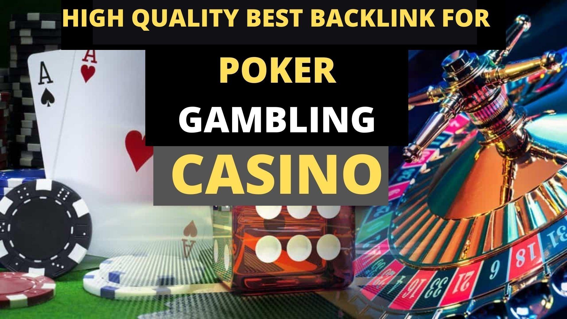 5 PBN Backlinks Permanent Poker Gambling Casino Websites