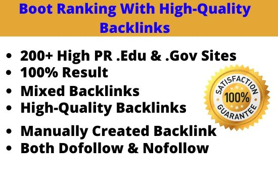 I will manually build high quality backlinks to boost your SEO