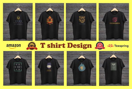 I'll design Professional & trendy t-shirt,  custom t-shirt,  typography & Christmas T shirt design