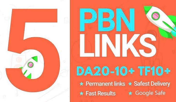 create 5 permanent high da pbn backlinks
