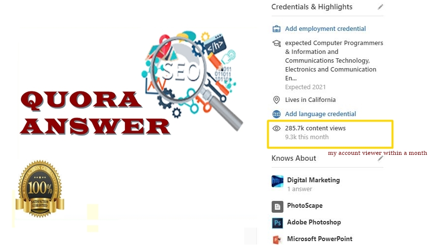 Provide 10 High Quality Quora Answer with Real Targeted Traffic