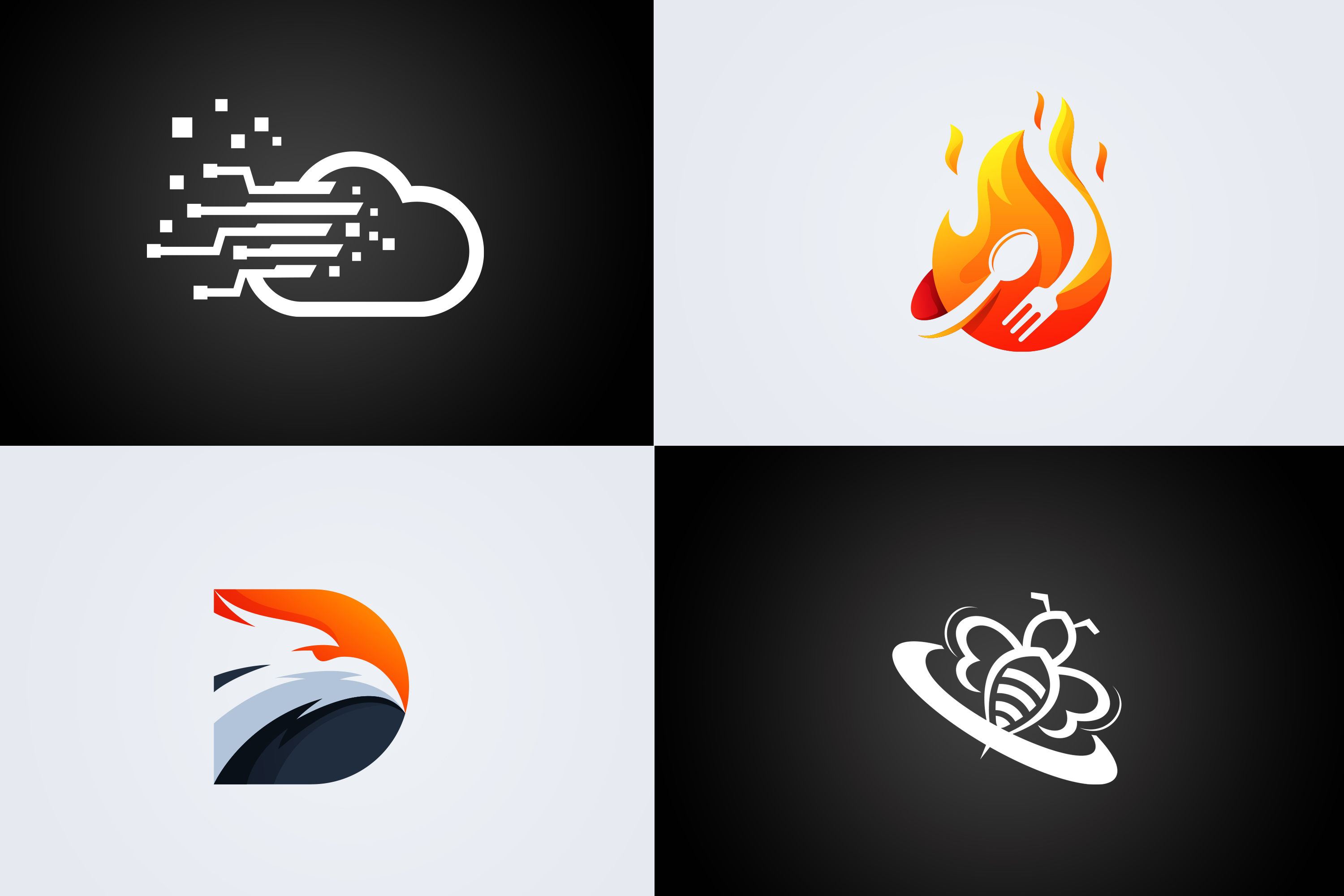 MODERN and ATTRACTIVE Logo Designs in 24hrs
