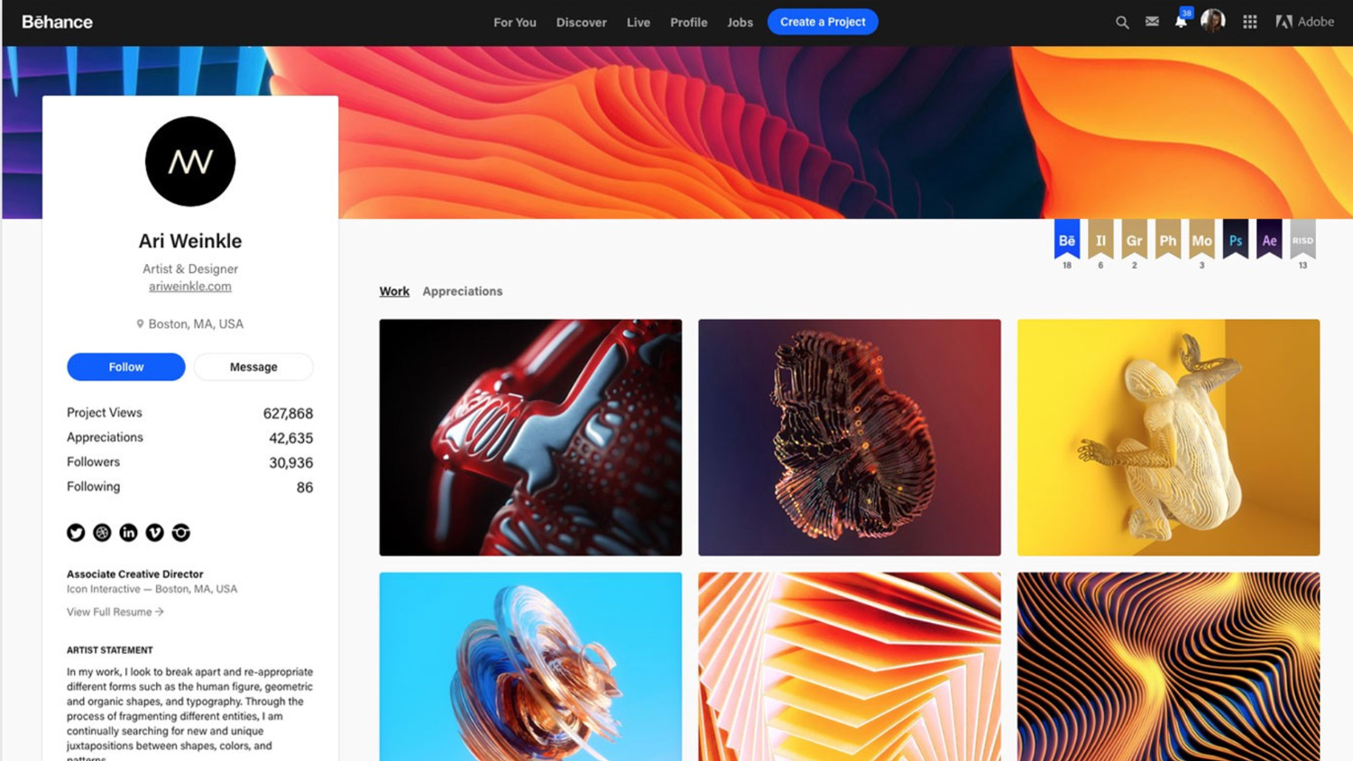 Write and publish a guest post on behance. net with 92