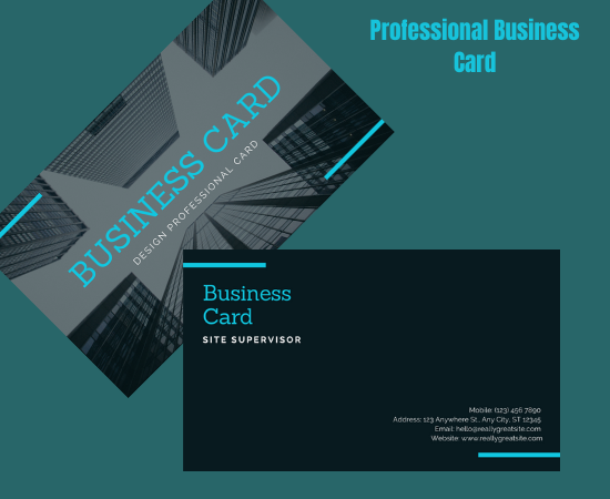 I will create professional business card