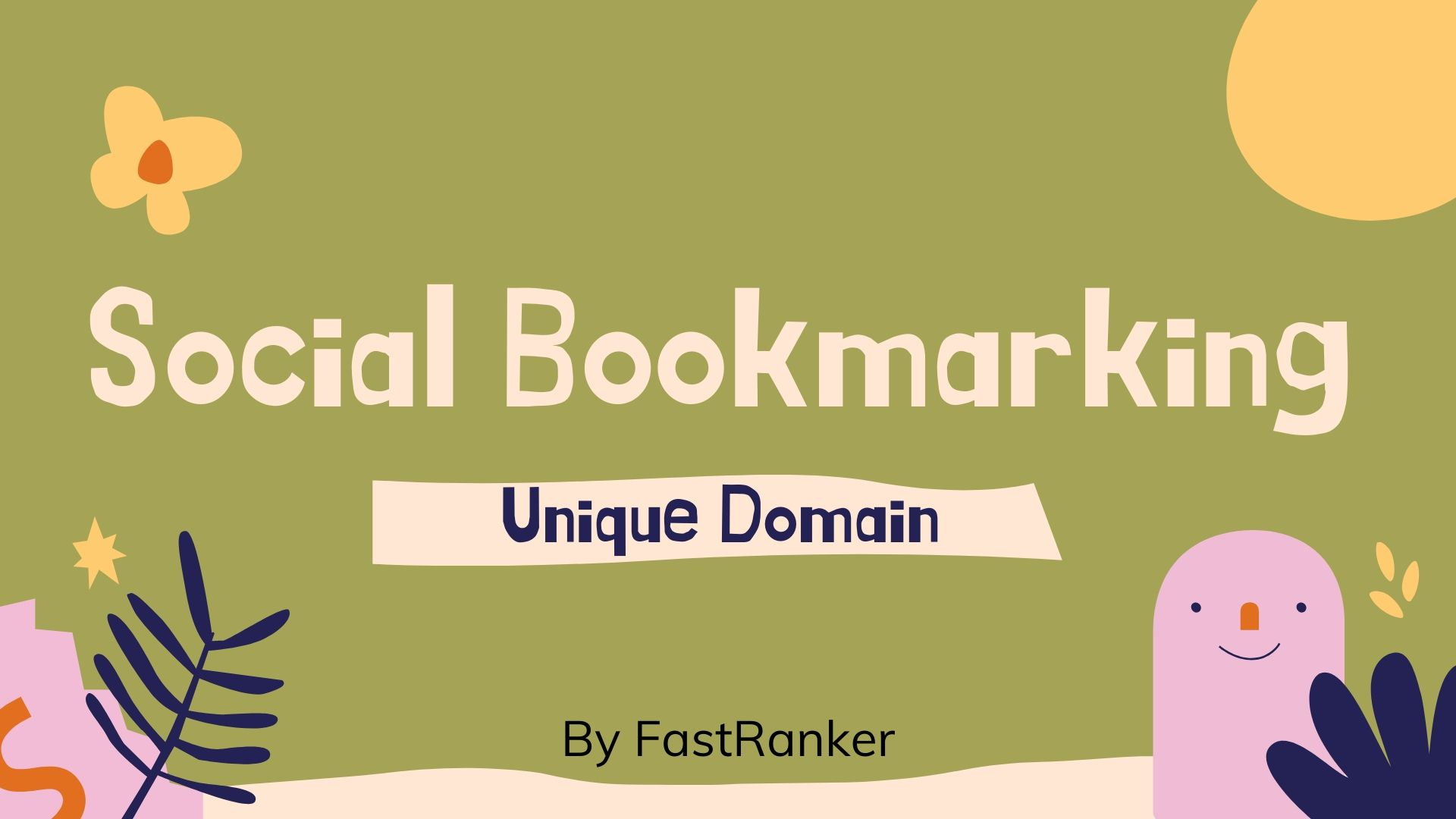 Do 32+ Social Bookmarking Unique Domain Backlinks for your Website