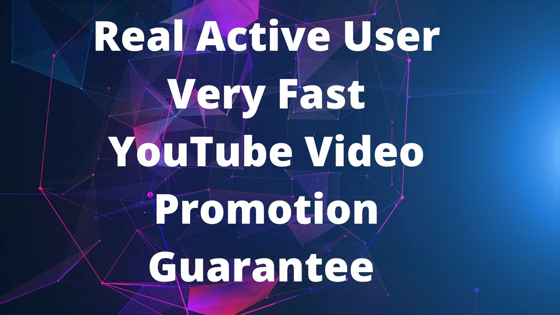 Real Active User Very Fast YouTube Video Promotion Guarantee