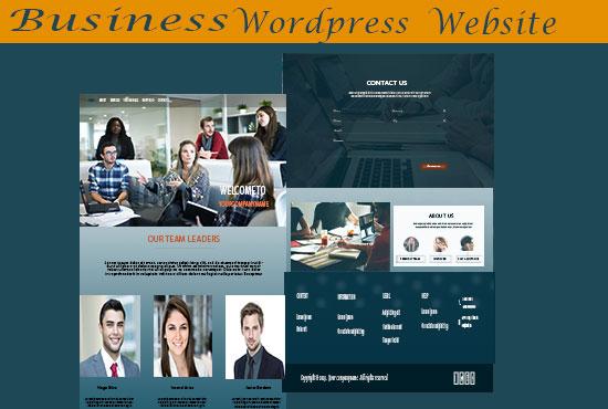 Develop a business website in Wordpress