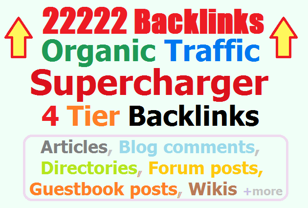 22222 Tier1-4 Backlinks Guaranteed Organic Traffic Super Booster for Quality Traffic