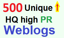 Increase Google Ranking with over 500 Unique High PR Web 2.0 Backlinks for Organic Traffic
