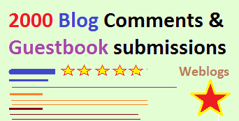 2000 posts including Guestbook and Blog-comments based on Keywords