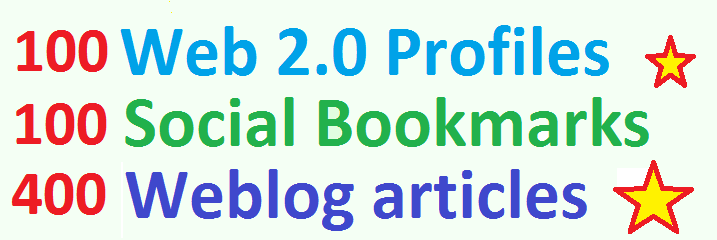 Mini Booster Social Bookmarking,  Web Profiles,  with PR,  DA,  PA,  Weblog Backlinks for Google traffic