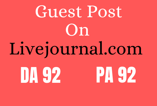 Write and Guest post on livejournal.com
