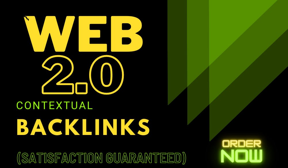 I will build 12 web 2 0 contextual with high da backlinks