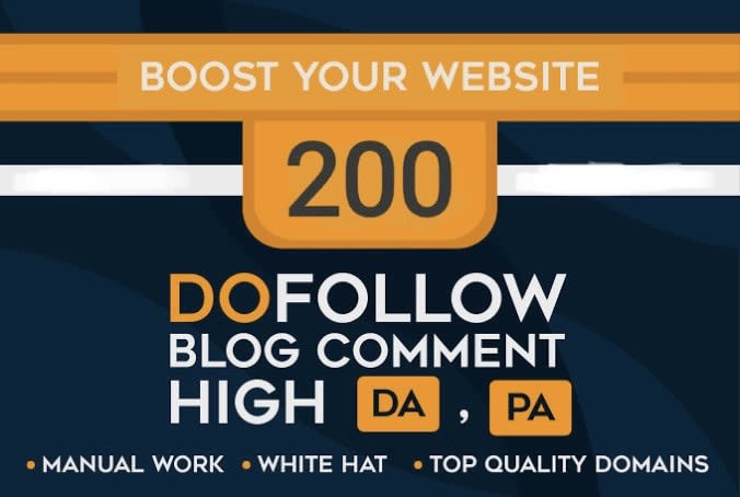 make 200 blog comments on your web site with high da pa